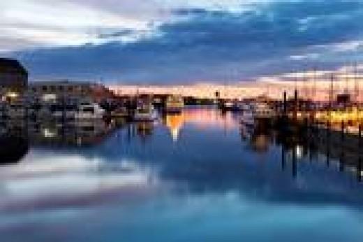 Boston Harbor at Dawn