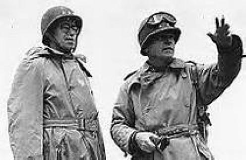 Gen. Collins with Omar Bradley, June 1944.