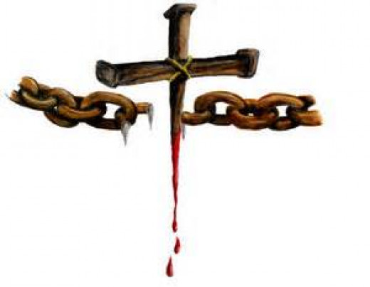 Divine order is re-established at the cross, and the chains of disorder and chaos are broken