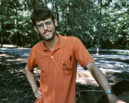 During my early, ultra-conservative SDA years. Taken at Hartland College in Rapidan, Virginia. I was fresh off a year as a missionary in Truk (now Chuuk). I met my fiance at Hartland, but we had to leave, because dating was against the college rules.