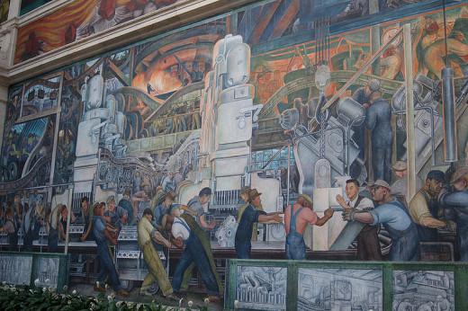 Detroit institute of arts museum national historic sites for Diego rivera detroit mural