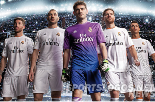 The new 2013/14 Real Madrid kit