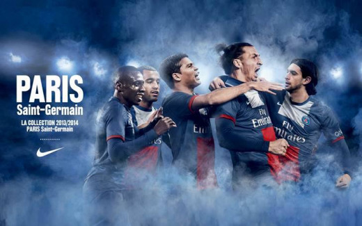 PSG's new home kit for the 2013/14 campaign
