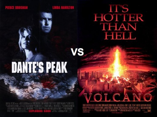 Dante's Peak vs. Volcano Movie Posters