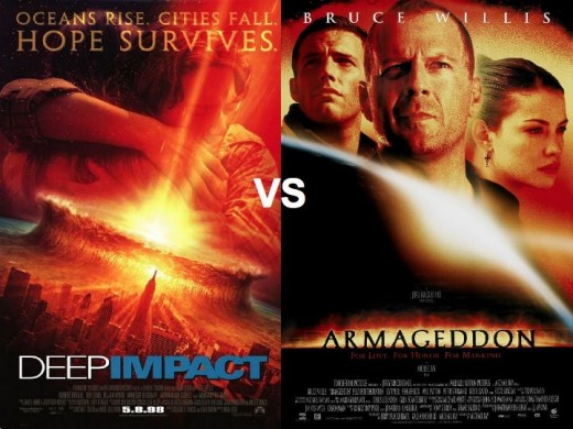 Deep Impact vs. Armageddon Movie Posters