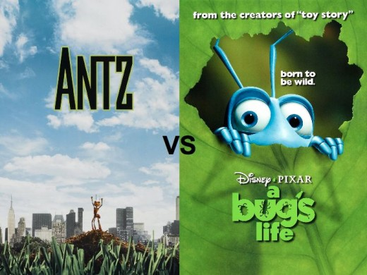 Antz vs. A Bug's Life Movie Posters