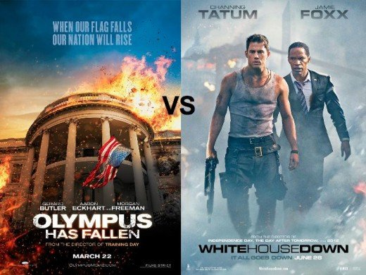 Olympus Has Fallen vs. White House Down Movie Posters