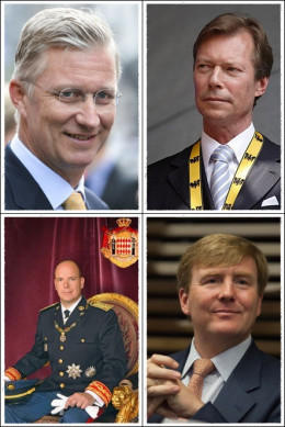 Europe's four youngest monarchs.