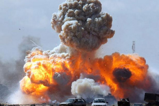 This shot detonated in Libya during the invasion.