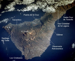 There has been a slump in the western flank of this island in the Canary chain after the last volcanic eruption. It would not take much to cause the whole thing to slide and generate a megatsunami that would destroy civilization around the Atlantic.