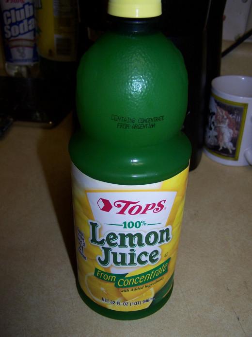 Sometimes I squeeze lemons myself for lemon juice but I always keep on hand bottled lemon juice.