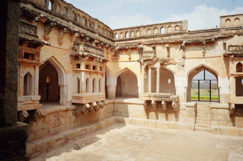 The Queen's Bath in Hampi makes an appearance in the novella 'City of Victory'