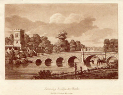 Print of Sonning Bridge, Thames River, England