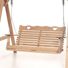 Outdoor Swing Seat in Oak