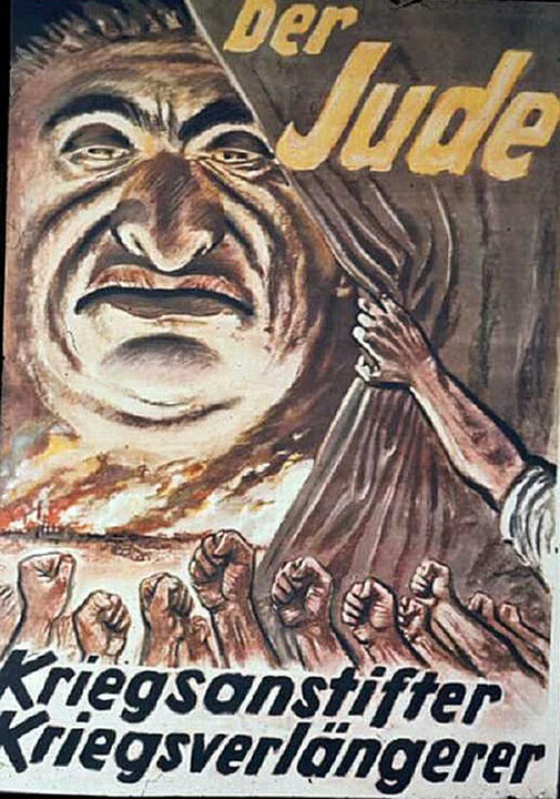 Nazi propaganda demonizing Jewish people.
