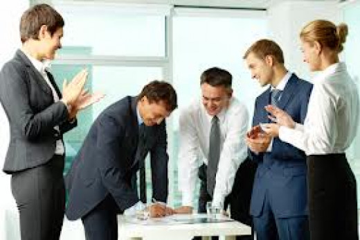 Officials Discussing A New Idea
