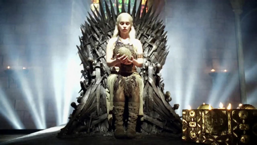 I believe this will be the end result of A Song of Ice and Fire... Daenerys on the Iron Throne...