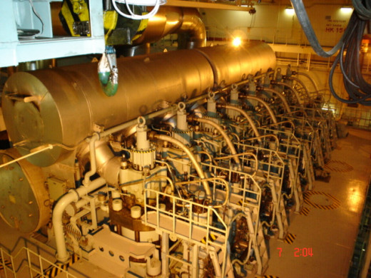 Large 2 Stroke Marine Internal Combustion Engine