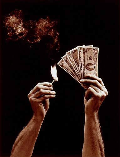 Burning Money from Bob Bauer  flickr.com