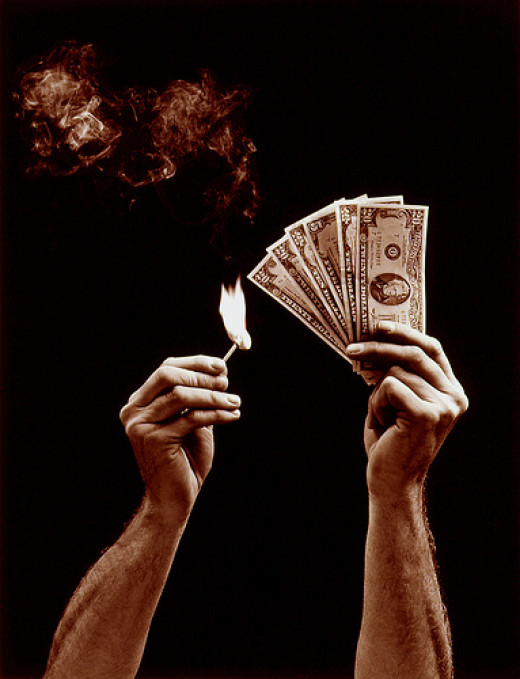 Burning Money from Bob Bauer  flickr.com