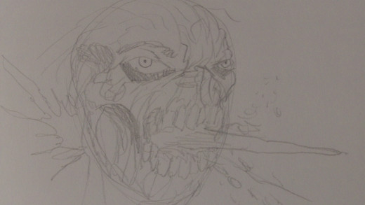 Work out the shaded areas of the Zombie head
