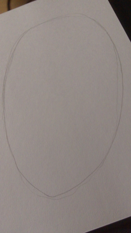 Draw a Round oval shape for the Zombie Skulls head