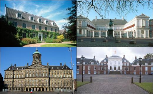 Villa Eikenhorst, Noordeinde Palace, Royal Palace of Amsterdam, Villa Ten Bosch