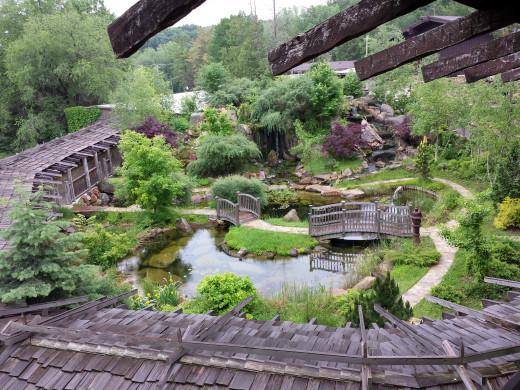 The Asian garden.