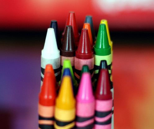 Crayons are a great Halloween alternative options that promots creativity.
