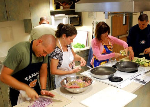 Fun cooking activities can be done with family and friends.