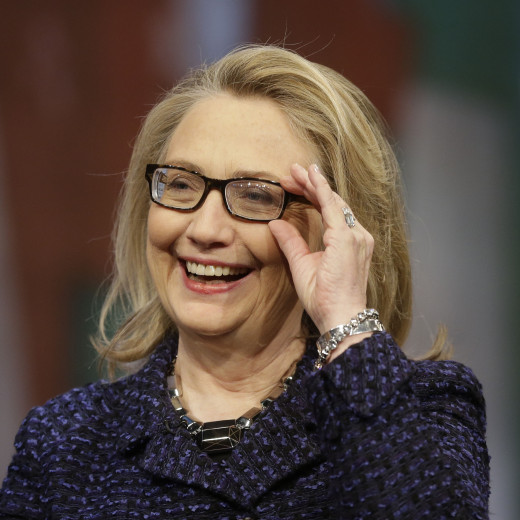 Hillary Clinton (47%), politician, did well on the most trusted list.