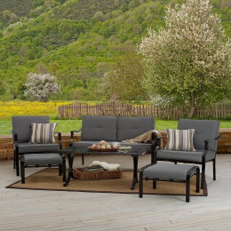 Adding furniture to an outdoor space an turn it from useless to enjoyable.