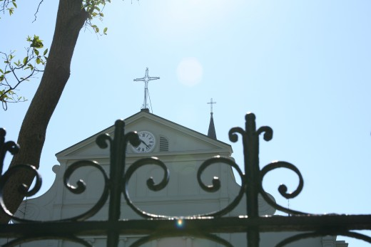 Cathedral fence and roof