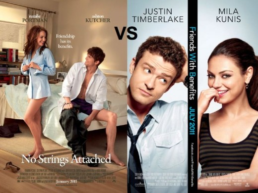 No Strings Attached vs. Friends With Benefits Movie Posters