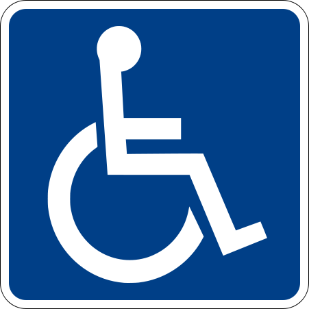 The handicapped sign doesn't always help you if you are handicapped