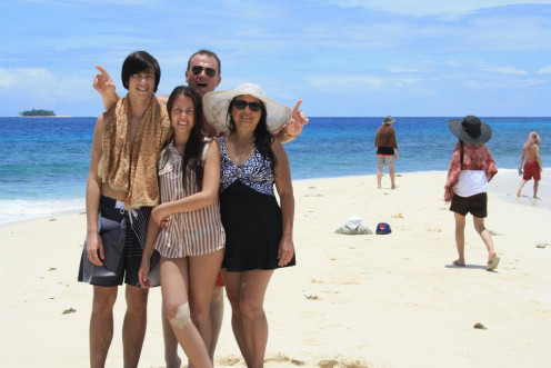 Me & My Family in Britanian Island, Surigao, Phil.