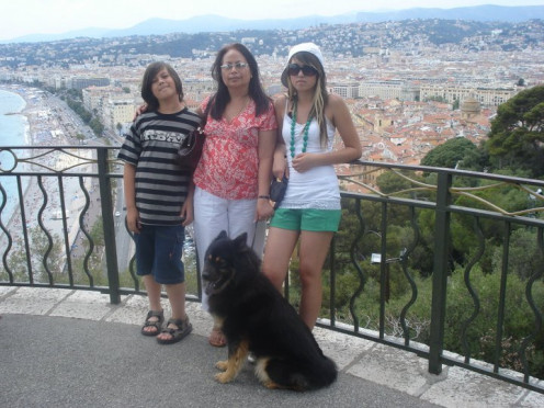 Me, My Daughter,Son & Our Dog Benda  in Nice, France