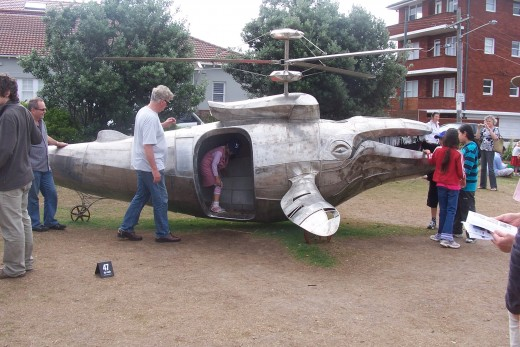 Humpback gunship by Benjamin Gilbert. Made of stainless steel.