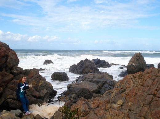 Sea-foam on the Rocks