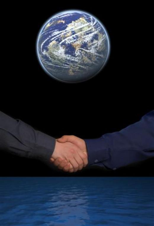 Shake Hands Across the World
