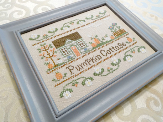 Pumpkin Cottage Framed Art