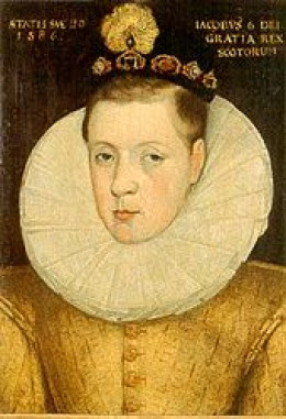 The 20 year old James VI of Scotland