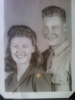 My papa and his sister