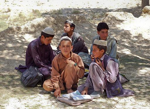 Schoolboys in Bamozai, Afghanistan