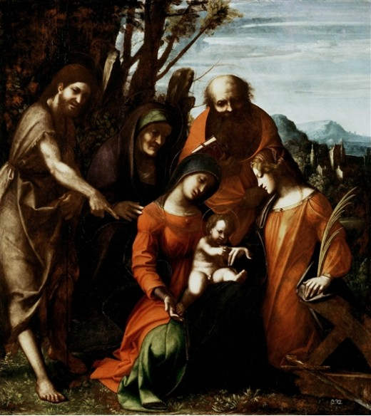 Correggio - Mystic Marriage, Saint Catherine of Alexandria, of Detroit (1512)