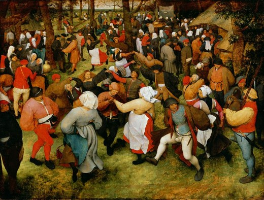 Pieter Bruegel the Elder - The Wedding Dance (1566). One of the most valuable pieces in the DAI collections.