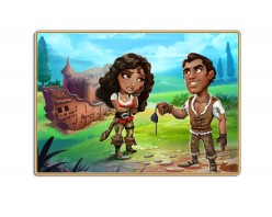 Help subjects build relationships with other characters, harvest crops, tend animals, cook food, forge weapons, and brush horses in this free social game.