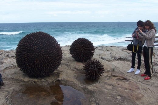 Urchins by Keyy-Ann Lees. Made from recycled ferrous scrap metal.