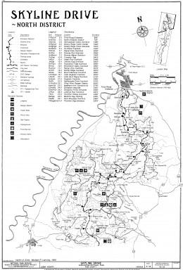 Skyline Drive Map