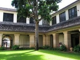 A central courtyard opens onto rooms containing art treasures from Asia and the Pacific regions
